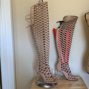 Vince Camuto Open Toe Stiletto Heel Sandal Boot